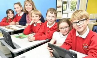 School kids benefit_School kids benefit from improved learning and performance using standing desks