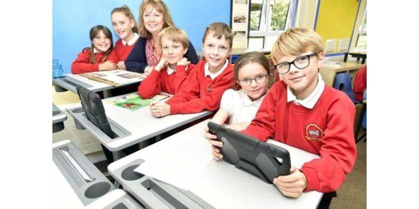 School kids benefit from improved learning and performance using standing desks