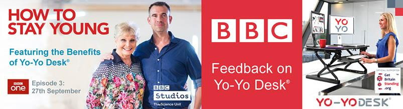 How to Stay Young? BBC TV features Yo-Yo Desk®